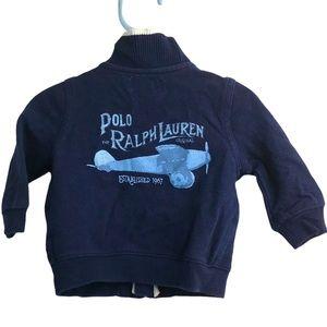 Ralph Lauren Baby Cotton Zip Airplane Sweatshirt